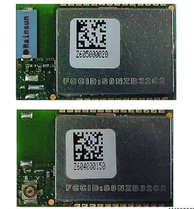 Внешний вид модулей SPZB32W1x2.4