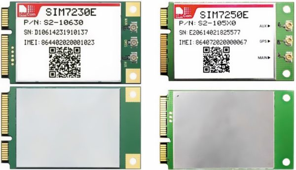 Внешний вид модулей SIM7230E и SIM7250E