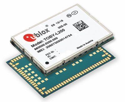 Внешний вид модуля серии u-blox TOBY-L2