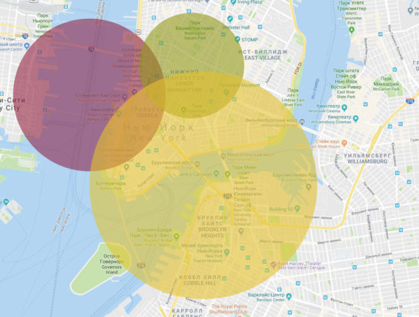 Контроль местоположения в пределах города