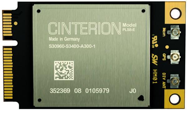 Внешний вид модуля Gemalto PLS8 в форм-факторе стандарта PCI Express Mini Cards
