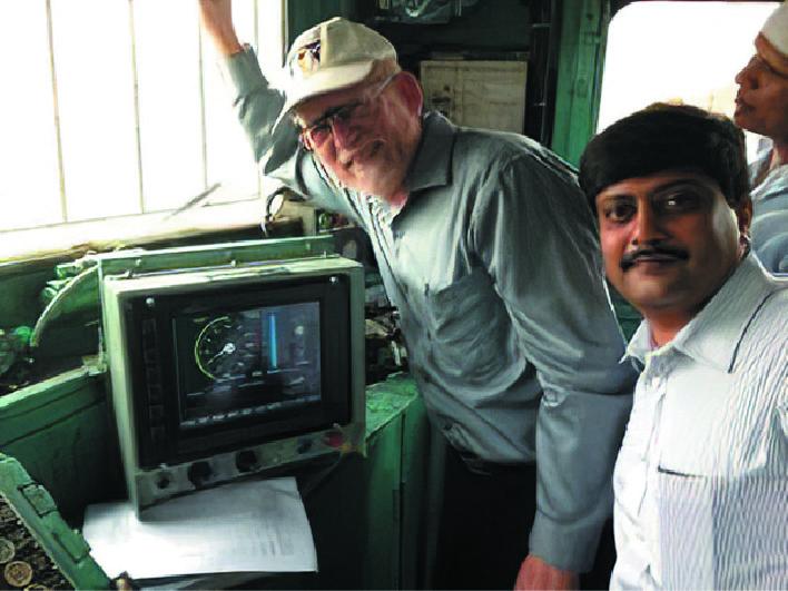 Внешний вид терминала машиниста системы управления поездами индийских железных дорог на этапе внедрения