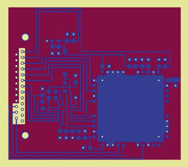 Топология печатной платы для навигационного модуля CH-4706 IEEE 802.15.4