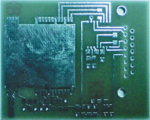 Внешний вид печатной платы навигационного модуля МНП-M7