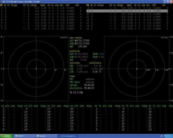 Графический интерфейс программы Navi