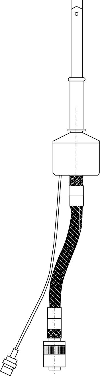 Вид антенны с держателем «гусиная шейка»