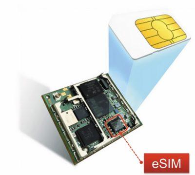 В модуле BC95 поддерживается работа с eSIM