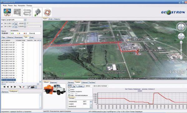 Система «Геострон» с модулем Google Earth