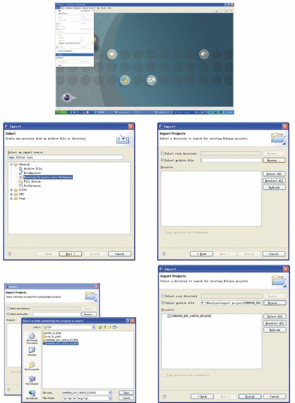 Импорт примера проекта