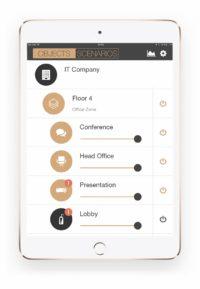 Мобильное приложение «Деус» для управления офисным освещением
