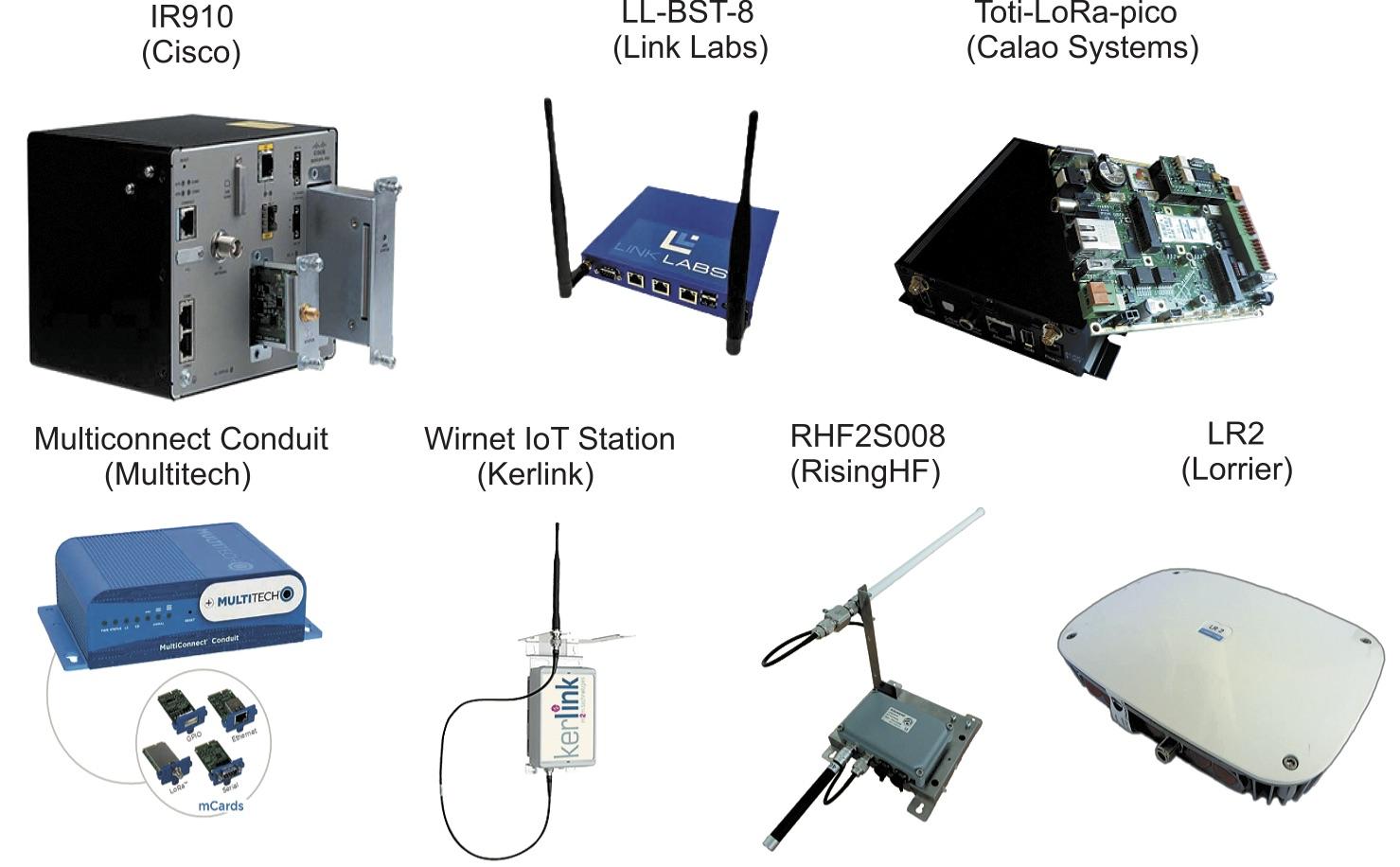 Внешний вид отдельных базовых станций LoRaWAN