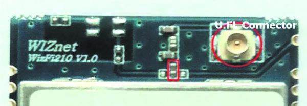 Модификация модуля WizFi210 с высокочастотным разъемом U.Fl для подключения внешней антенны