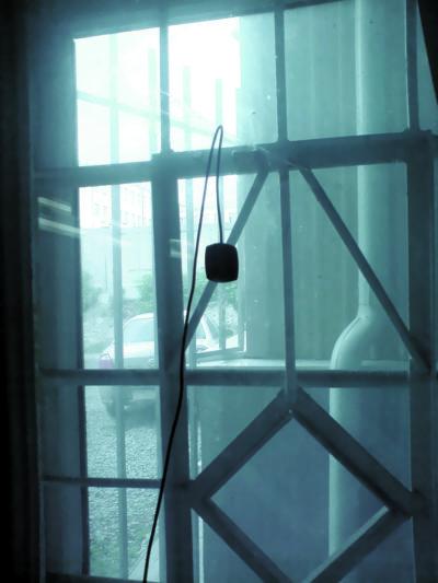 Закрепленная на окне ГЛОНАСС/GPS-антенна