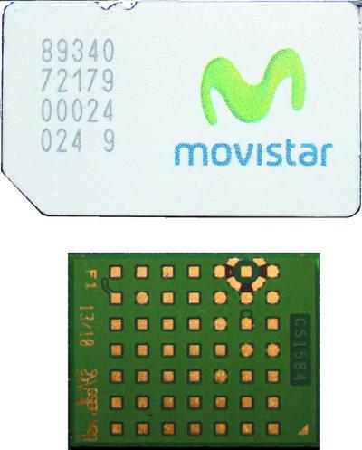 Корпус модуля GE866 в сравнении с SIM-картой