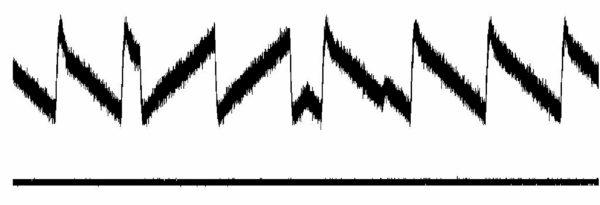 Фрагмент сигнала LoRa с выхода частотного детектора
