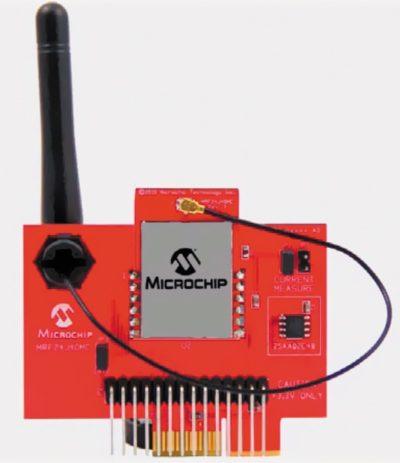 Модуль MRF24J40MC с внешней антенной на дочерней плате