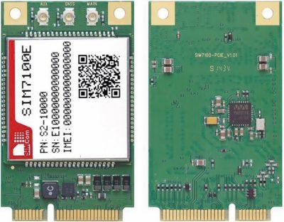 SIM7100E в исполнении на Mini PCI-E плате