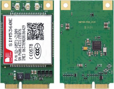 SIM5360E в исполнении на Mini PCI-E плате