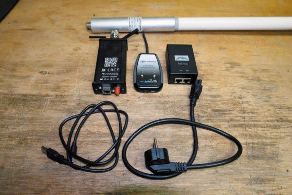 Тестовые устройства, входящие в измерительный комплекс: антенна, БС, передатчик, регистратор