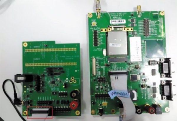 Отладочные платы для MC7304 и WM8994, подключенные через PCM