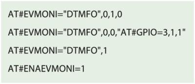 Команды инициализации модуля Telit для управления реле при помощи DTMF-тонов