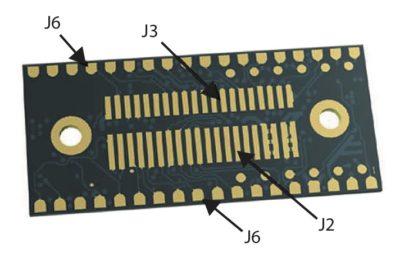Контактные площадки для поверхностного монтажа J6 и разъем В2В модуля OBS421i-26