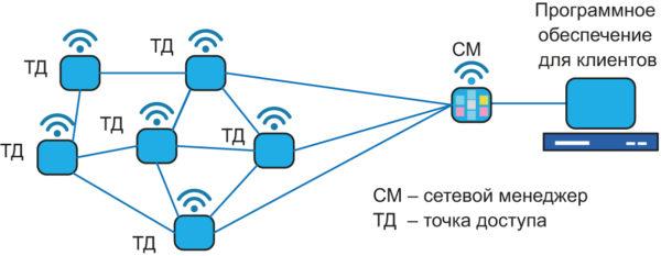 Типовая топология сети SmartMesh