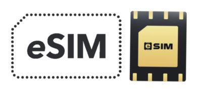 Логотип eSIM и SIM-чип (MFF2)