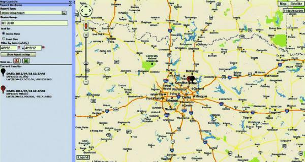 Основное окно картографического блока N4A Software Platform
