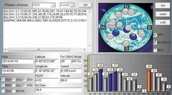 Холодный старт (модуль SL869 V2)