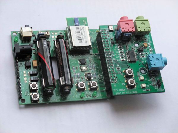 Внешний вид макета системы передачи звука