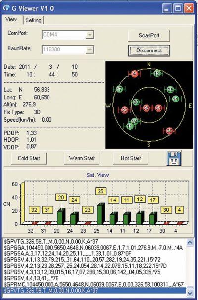 Скриншот окна программы G-Viewer версии V1.0