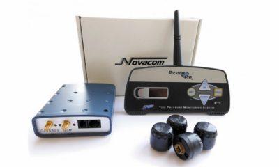 Комплект системы контроля давления в шинах с ГЛОНАСС-терминалом Novacom GNS-GLONASS v.5.0