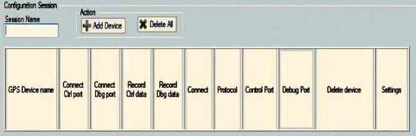 Окно выбора контролируемого устройства программы ST TESEO-SUITE