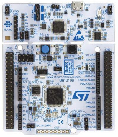 Внешний вид платы STM32 Nucleo board