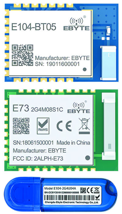 Типовые варианты исполнения модулей Bluetooth компании EBYTE