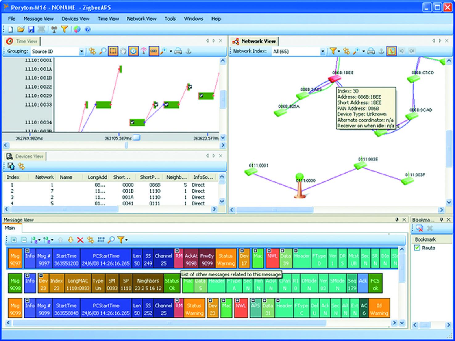Анализатор трафика сетей ZigBee от компании Perytons