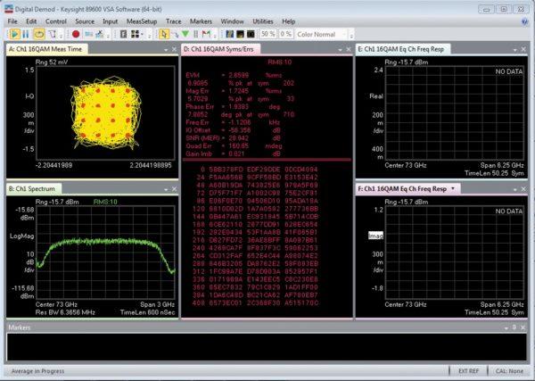 Демодуляция сигнала частотой 73 ГГц с полосой модуляции 2 ГГц