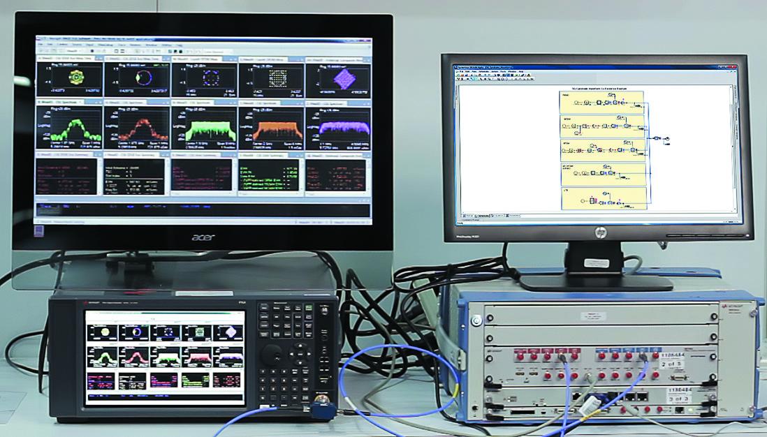 Эта конфигурация, обеспечивающая универсальную испытательную площадку для исследования сосуществования оборудования с технологией 5G, объединяет готовые аппаратно-программные элементы от компании Keysight Technologies