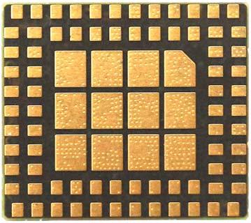 Выводы модуля SIM800H (вид снизу)