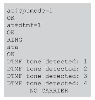 Пример использования декодера DTMF