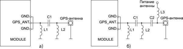 Схемы подключения GPS-антенны к модулю SIM5320