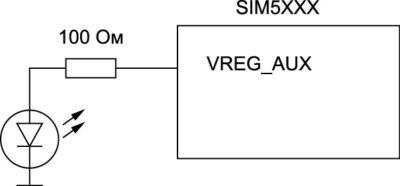Схема включения VREG_AUX для питания светодиодной подсветки