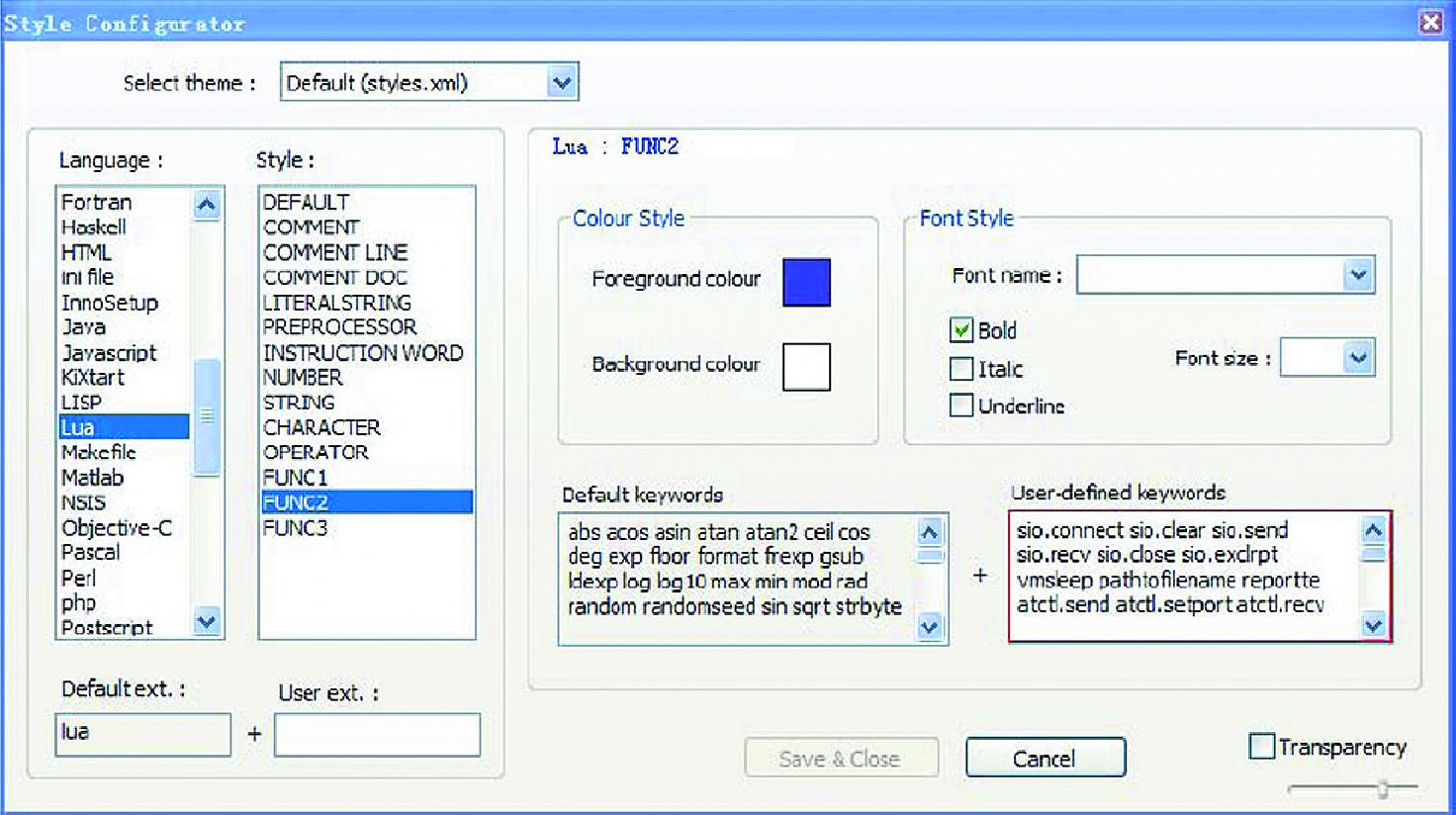 Настройка текстового редактора NotePad++ для работы с Lua