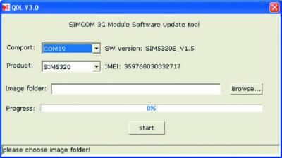 Программа для обновления ПО 3G-модулей SIMCom