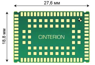Модули EXS82 выполнены в стандартном для изделий Cinterion конструктиве LGA