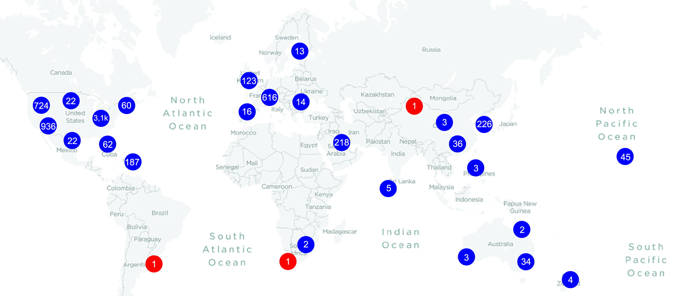 Количество базовых станций 5G-NR в коммерческом обращении [3]