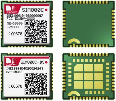 Модули SIM800C и SIM800C-DS)