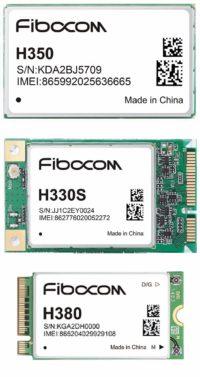 3G-модули Fibocom: а) H350; б) H330S; в) H380