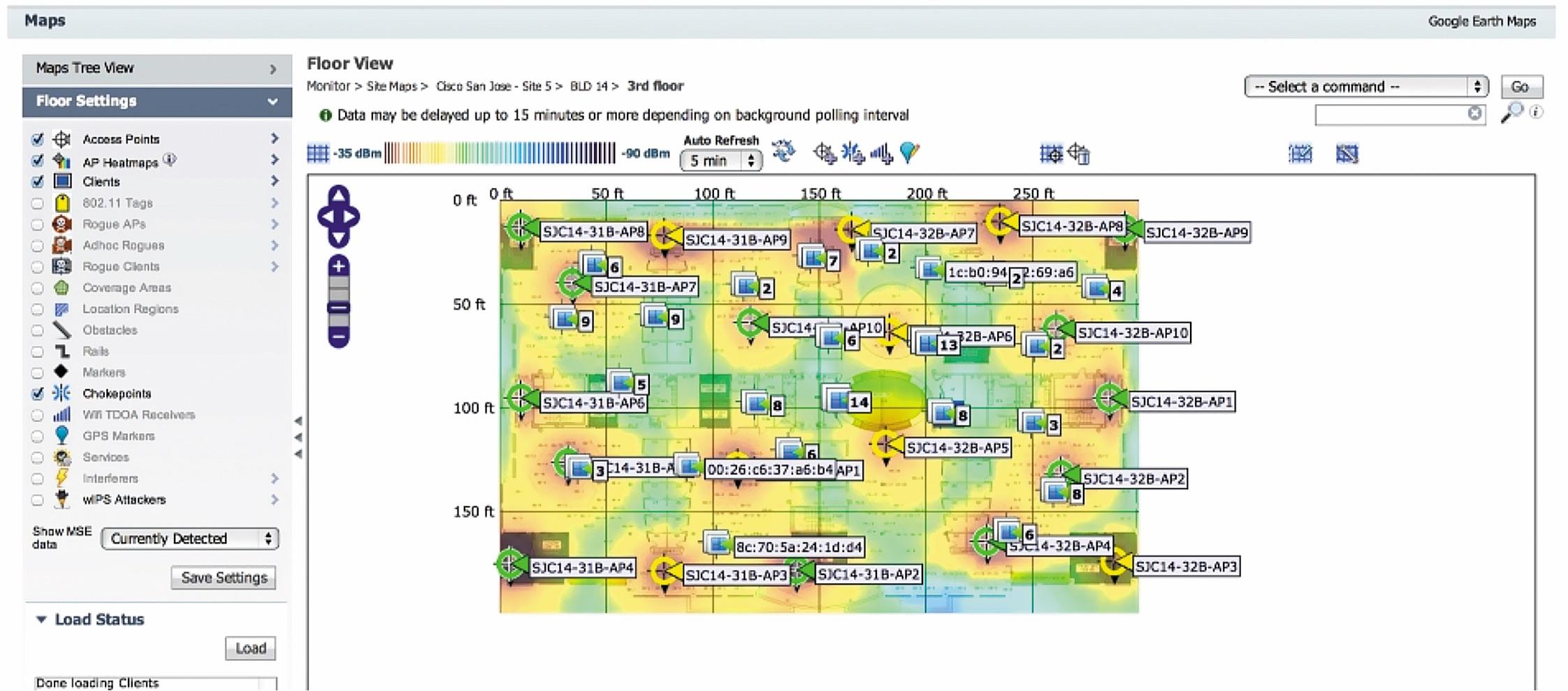 Пример карты с клиентами